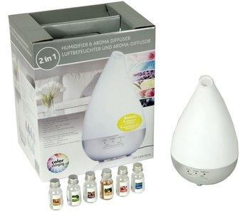 Aromaverstuiver - bevochtiger en lamp