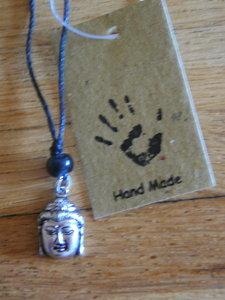Ketting Boeddha hoofd handmade