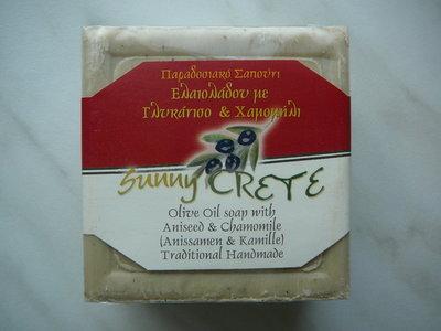 Olijfoliezeep met anijs en kamille (Traditional handmade) 200gr.
